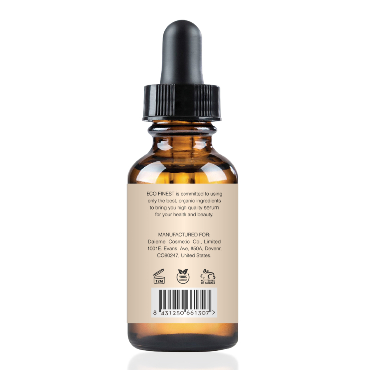 ECO finest Natural Vitamin C Serum Private Label, 2 fl. oz - 20% organic Vit C + E + Hyaluronic Acid - 585146
