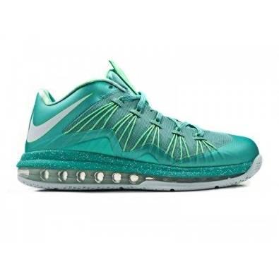 ba865d91a7ca Get Quotations · Nike Air Max Lebron X Low (Crystal Mint Poison Green  Fiberglass)