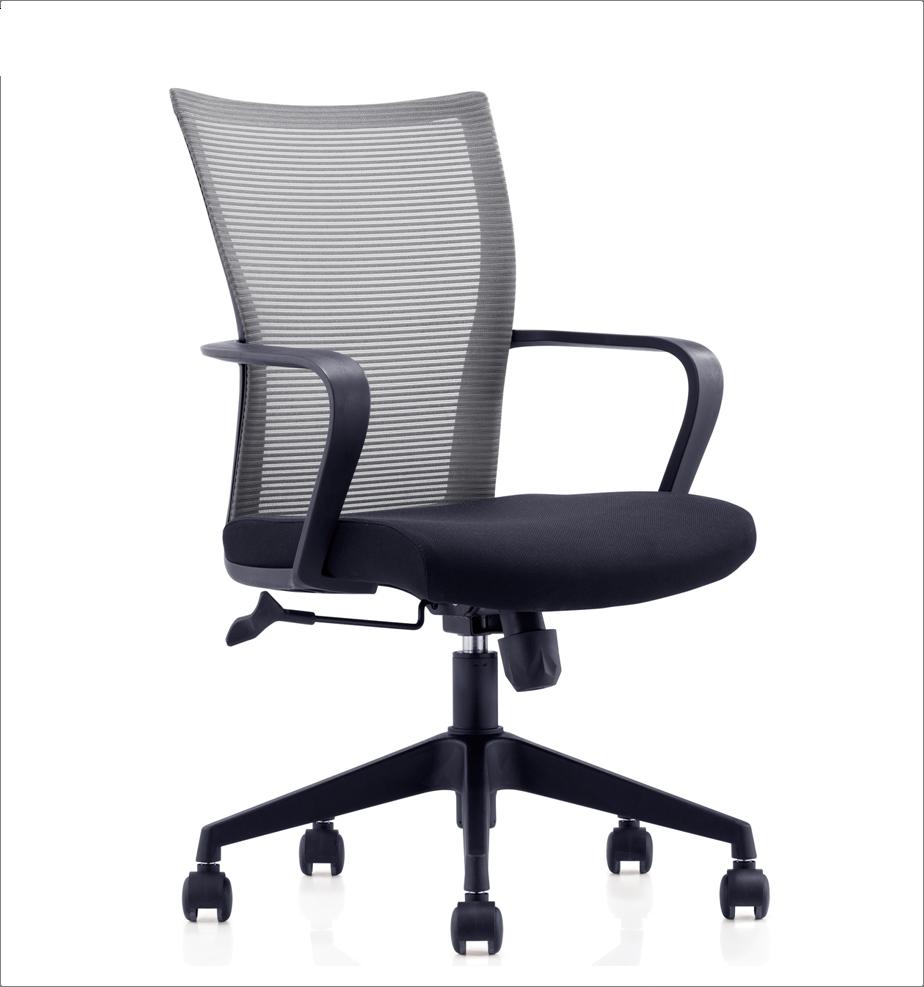 Stoff armless schreibkraft stuhl/Low back mesh swivel büro stuhl