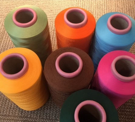 100% polyester knitting yarn with high stretch polyester staple fiber polyester flat yarn
