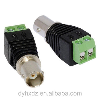 Coax Cat5 Cat6 CCTV Coaxial Camera BNC Female Jack Video Balun Connectors