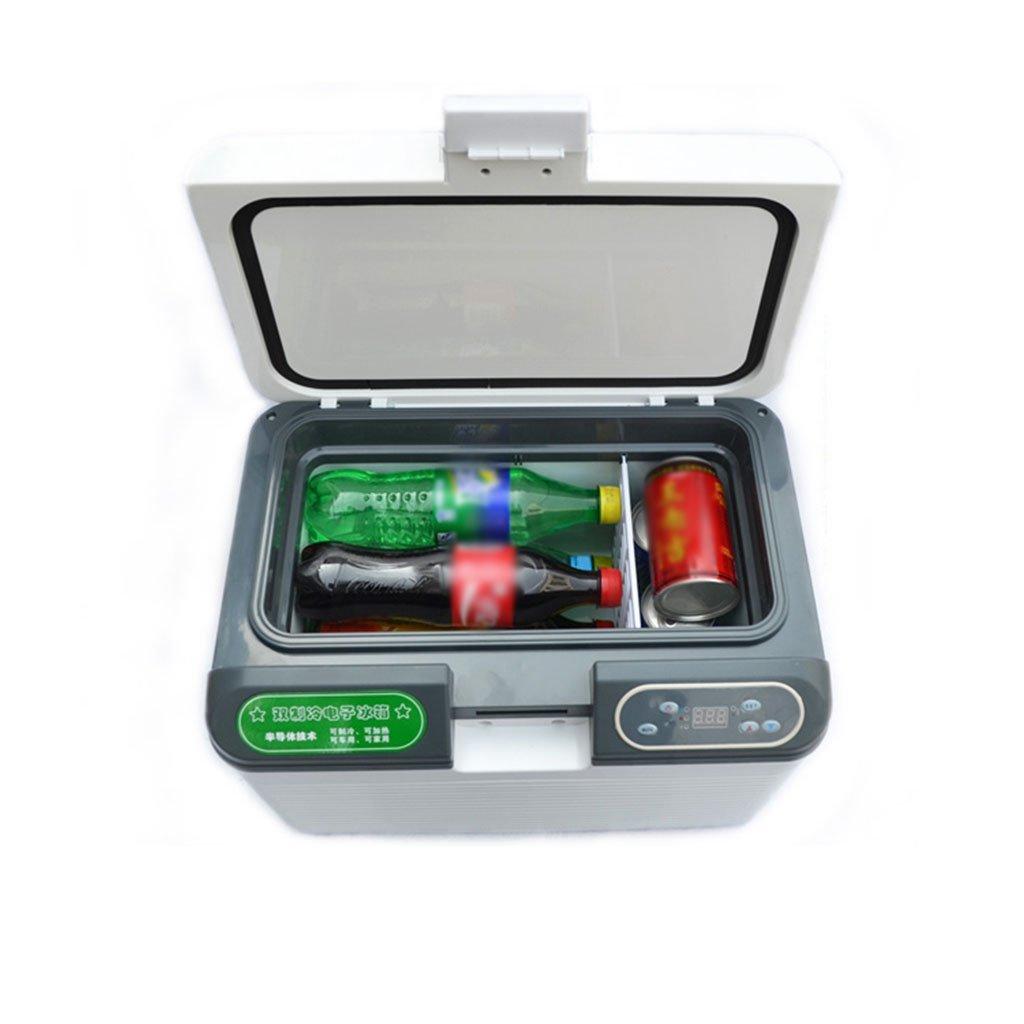 Peaceip 12L Dual Core Refrigeration Portable Fridge Small Freezer Car And Home Dual-use Refrigerator Mini Fridge 12v/24v/220v Vehicle Car Refrigerator Fridge