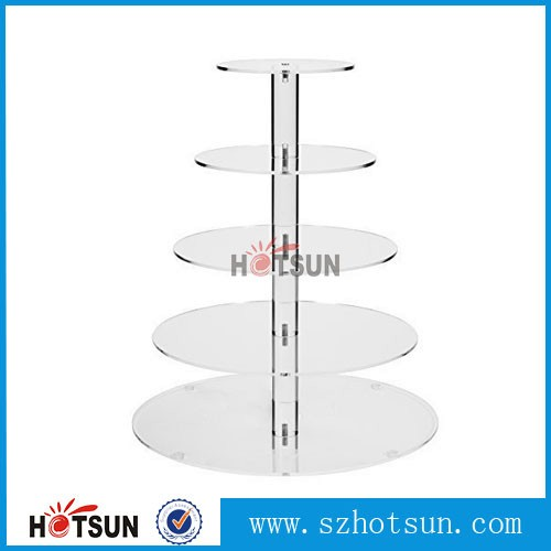 China Supplier Table Top Detachable 5 Tiers Clear Acrylic Cake ...
