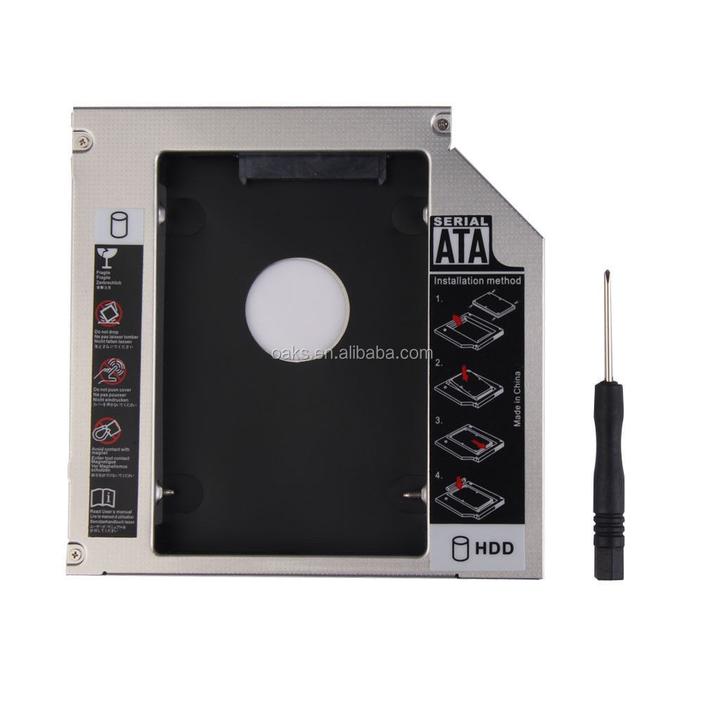12.7mm Universal PATA IDE to SATA Hard Drive 2nd HDD Caddy