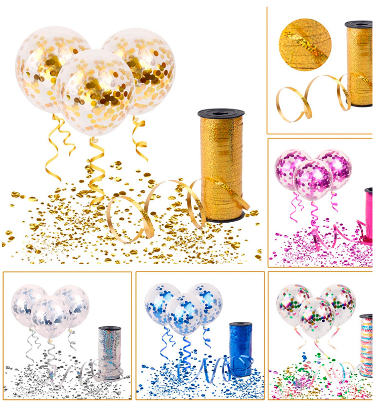 Big Round Shape 18 inch Gold Silver Confetti Balloons for Party Decoration