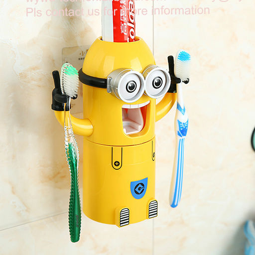 2015 Family Innovative Trendy Christmas Gifts Minions Automatic Toothpaste Dispenser
