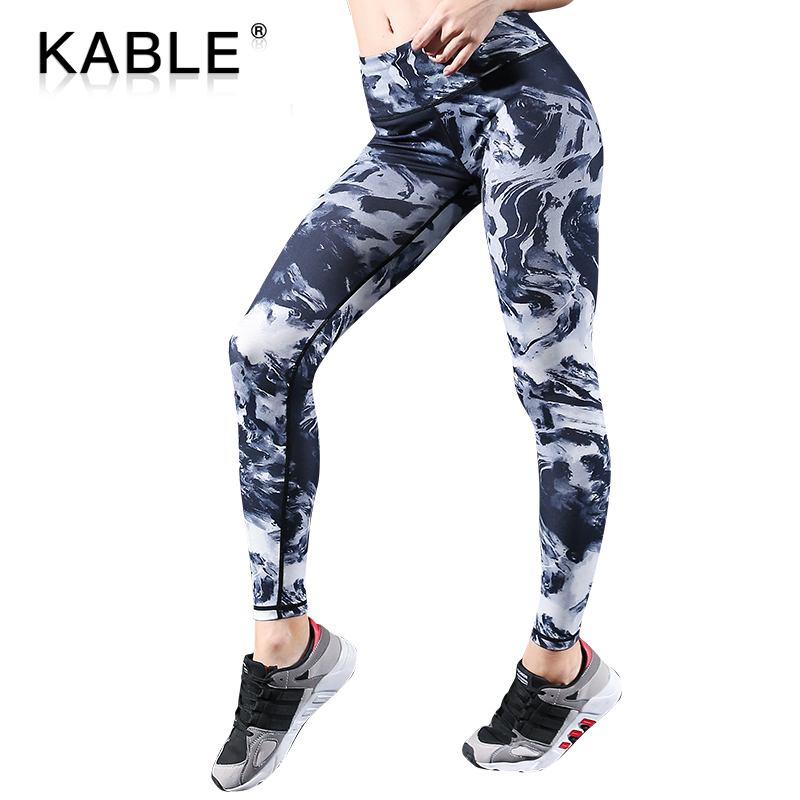 Frauen Leggings Polyester Hohe Qualität Hohe Taille Push Up Gedruckt Workout Fitness Hosen Bodybuilding Legging Kleidung