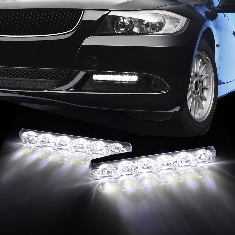 iJDMTOY OEM Fit 6-LED High Power LED Daytime Running Lights DRL Kit For 2013-up Scion FR-S FRS