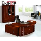 Executive antique wood office furniture circular office desk(T2042)