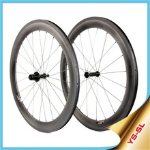 Yishunbike 700C bicycle wheel set 16-32 hole Straight Pull bike carbon wheel 60mm clincher carbon fiber bicycle wheel SL60C