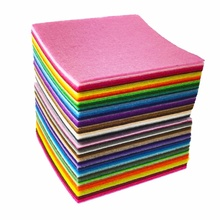 ECO friendly red color polyester felt price red green yellow grey black color felt sheet on hot sale