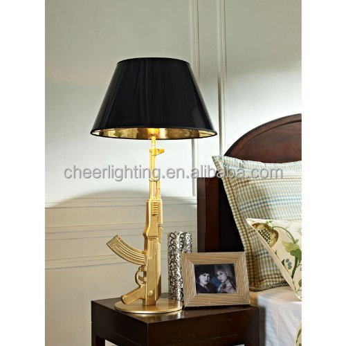 Awesome Brand New Classic Designer AK47 Gun Table Lamp Gold Or Chrome Finish For  Choice