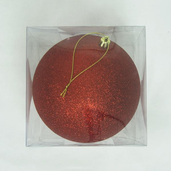Good Quality Red Glitter Christmas Ornaments Balls