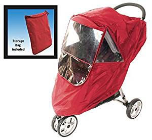 Comfy Baby! Universal Multi-Purpose Stroller weather Protector - Fits All Deluxe Umbrella, Full Size & Jogging Strollers - Red by Comfy Baby