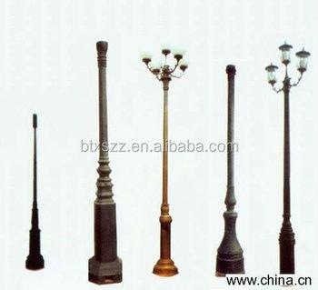 Decorative Light Poles casting iron lamp poles,outdoor decorative light post,street used