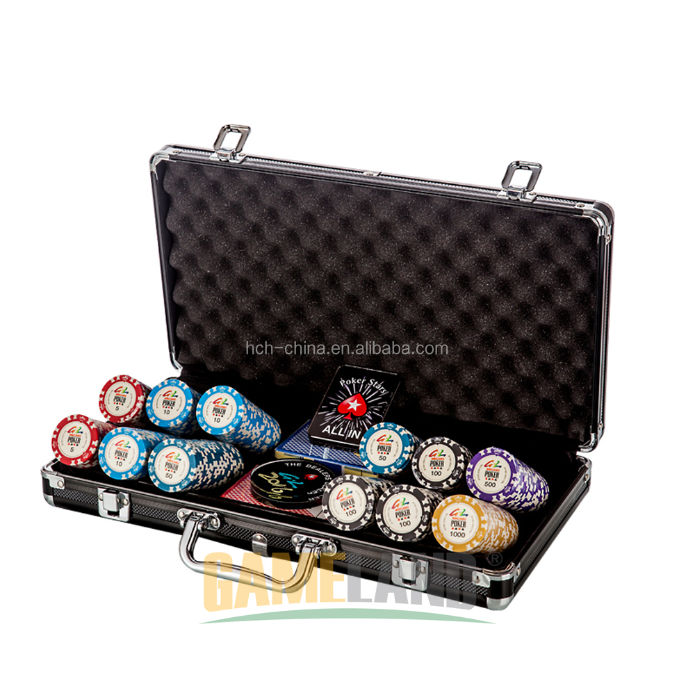 Corona Argilla Poker Chip Set Con 14g Casino Qualità di Stile Dell'annata di Chip
