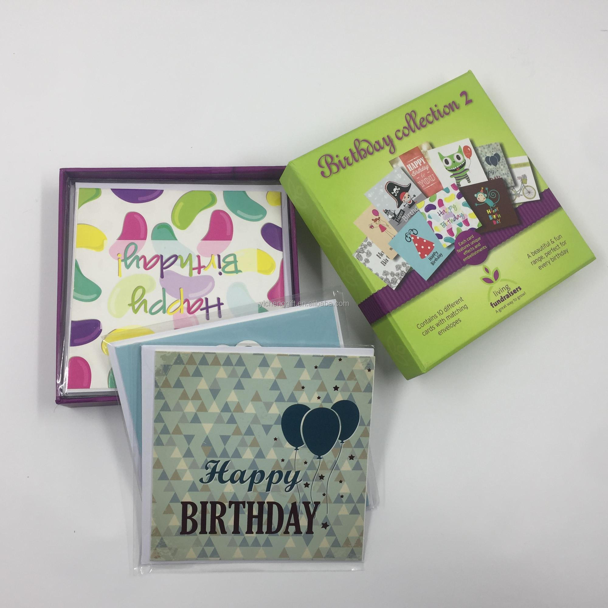 Different Design Custom Handmade Birthday Greeting Cards Paper Invitation For All Occasions