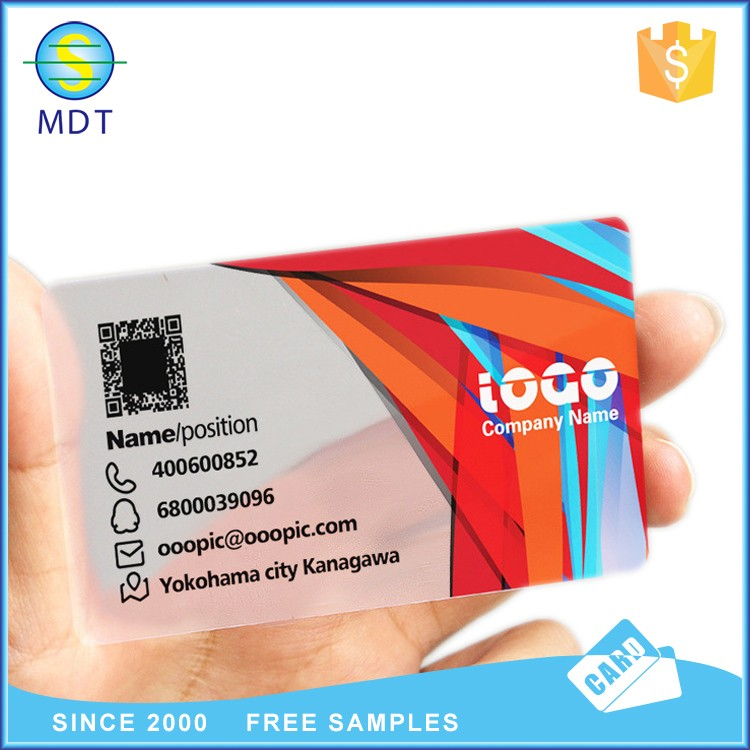 good design and fast delivery pvc business card