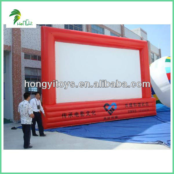 Enjoyable Beautiful High Quality Inflatable Movie Screen Inflatable Cinema Screen