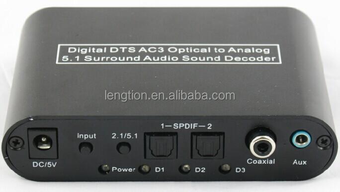 5 1 Audio Digital Sound Decoder Converter Optical Spdif