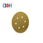 CWH 6 Inch 6 holes 400 Grit Yellow Gold Hook and Loop Sanding disc