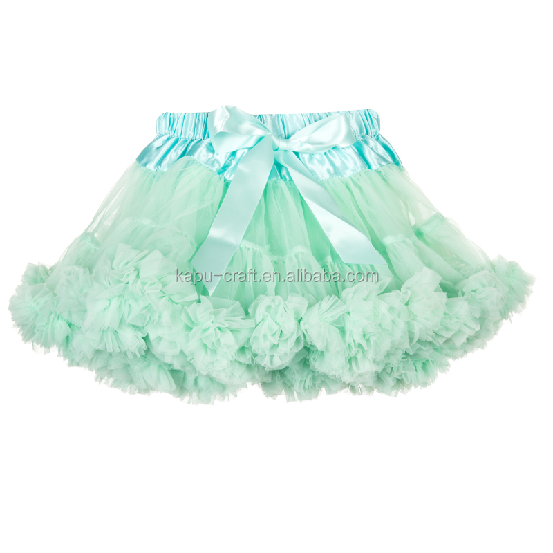 cute ivory flufly pettiskirt for newborn kids and toddler baby and adult bubble skirt