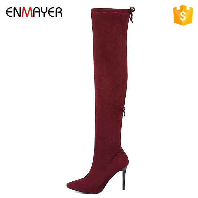 thigh high boots, Western style comfortables 9cm high heel tilettos shoes boots women heels fashion new style high heel shoes