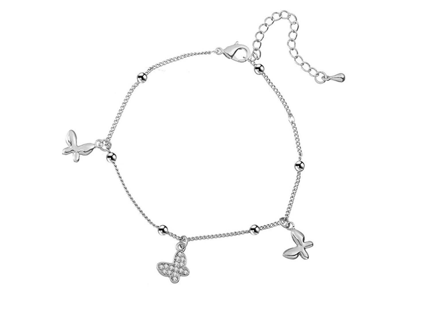 PORPI-JOJO Butterfly Foot Beach Jewelry Charm Anklet Bracelets Animal Anklets for Women