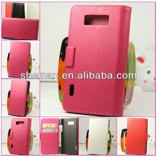 Plastic Material 2D Sublimation mobile phone pouch bag for LG P705
