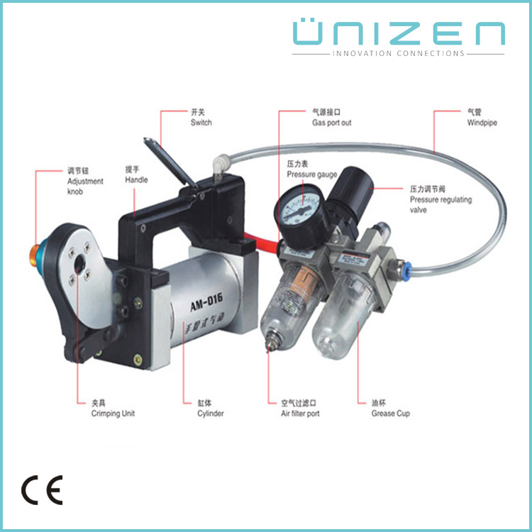UNIZEN Chinese Products Sold Pneumatic Air Terminal Crimping Machine Power Tool