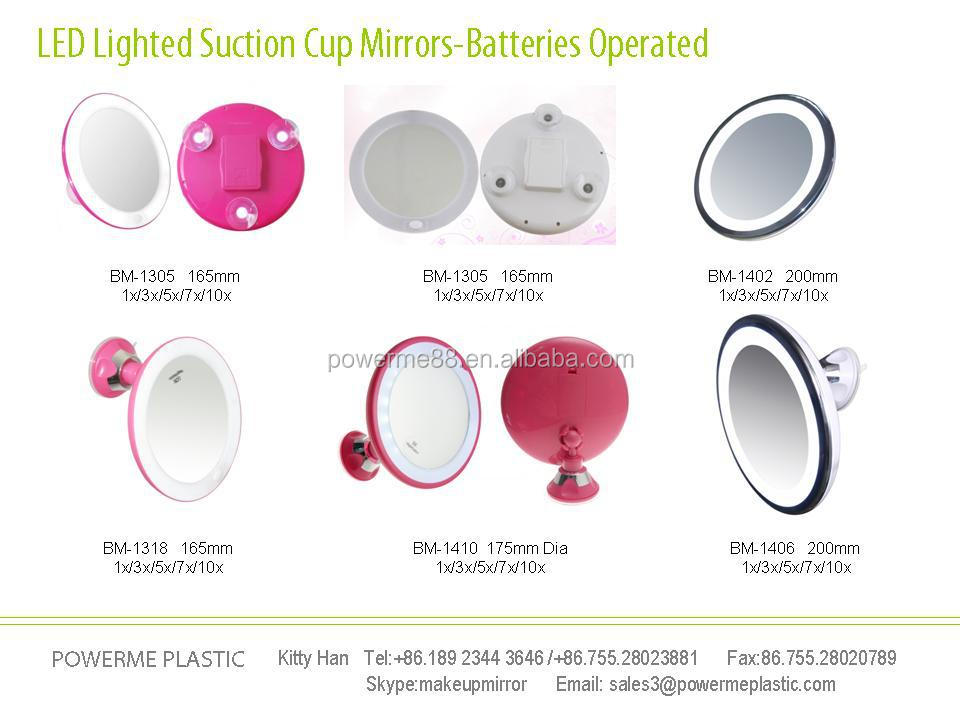 LED Wall Mounted Suction Cup Mirrors  Swivel Bathroom Mirrors  lighted  makeup mirrors. Led Wall Mounted Suction Cup Mirrors Swivel Bathroom Mirrors