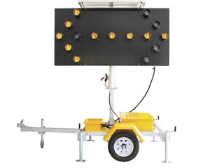 New Type Traffic Light Remote Control Arrow Sign Board Directional Solar Led Arrow Board Trailer