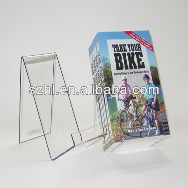 Clear acrylic a4 easel stand book and paper display holder shelf