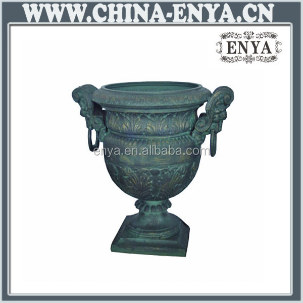 High quality factory price cast iron planter urn garden decoration cast iron