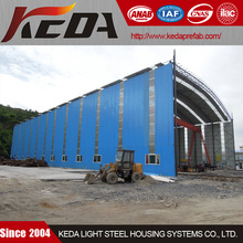 prefabricated building steel warehouse/depot which can run a crane