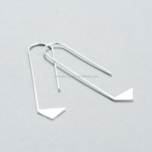 South Korea s925 Earrings long triangle geometric minimalist personality exquisite design sterling silver jewelry wholesale