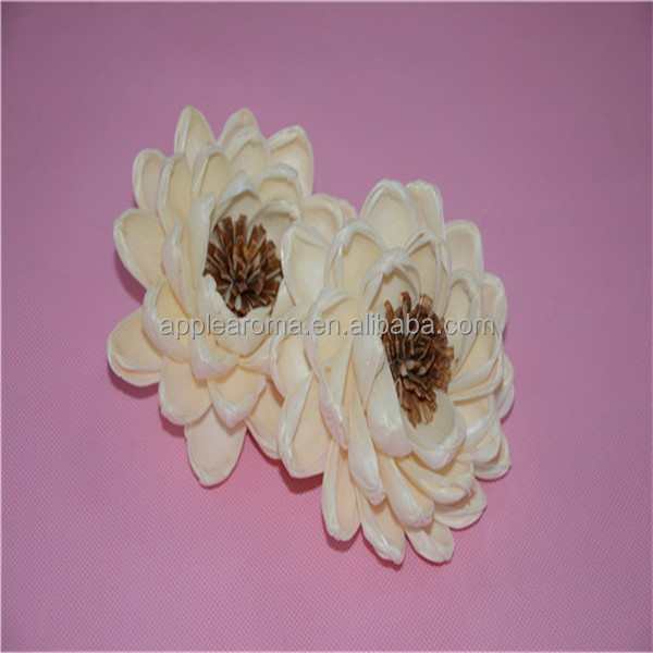 Handmade Natural Artificial White Flowers For Reed Diffuser