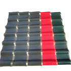 CE / SGS / ISO certificate color plated spanish style synthetic roof tiles prices PVC roof sheet