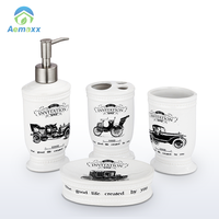 Cheap 5 star mini hotel soap dispensing dish brush for complete set bathroom