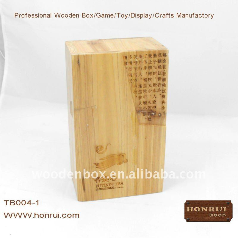 wooden tea case and box with a drawer