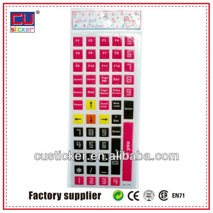 Customized color laptop keyboard skins sticker