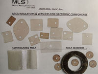 cut mica sheets for transistors and amplifiers