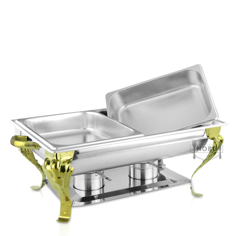 Gold buffet food warmer stainless steel buffet chafing dish