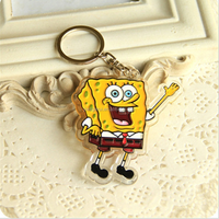 GERUI Advertising Promotion wholesale Printed Blank Acrylic Keychain Custom Acrylic keychain