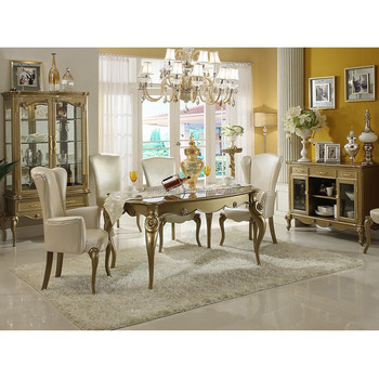 High Quality 5417 Antique White Dining Room Furniture Sets