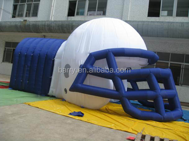 PVC Cheap Outdoor sport game Inflatable Football Helmet Tunnel, Inflatable Entrance Tunnel