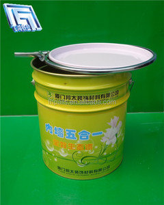 18L round tin container for storage/packaging industrial product