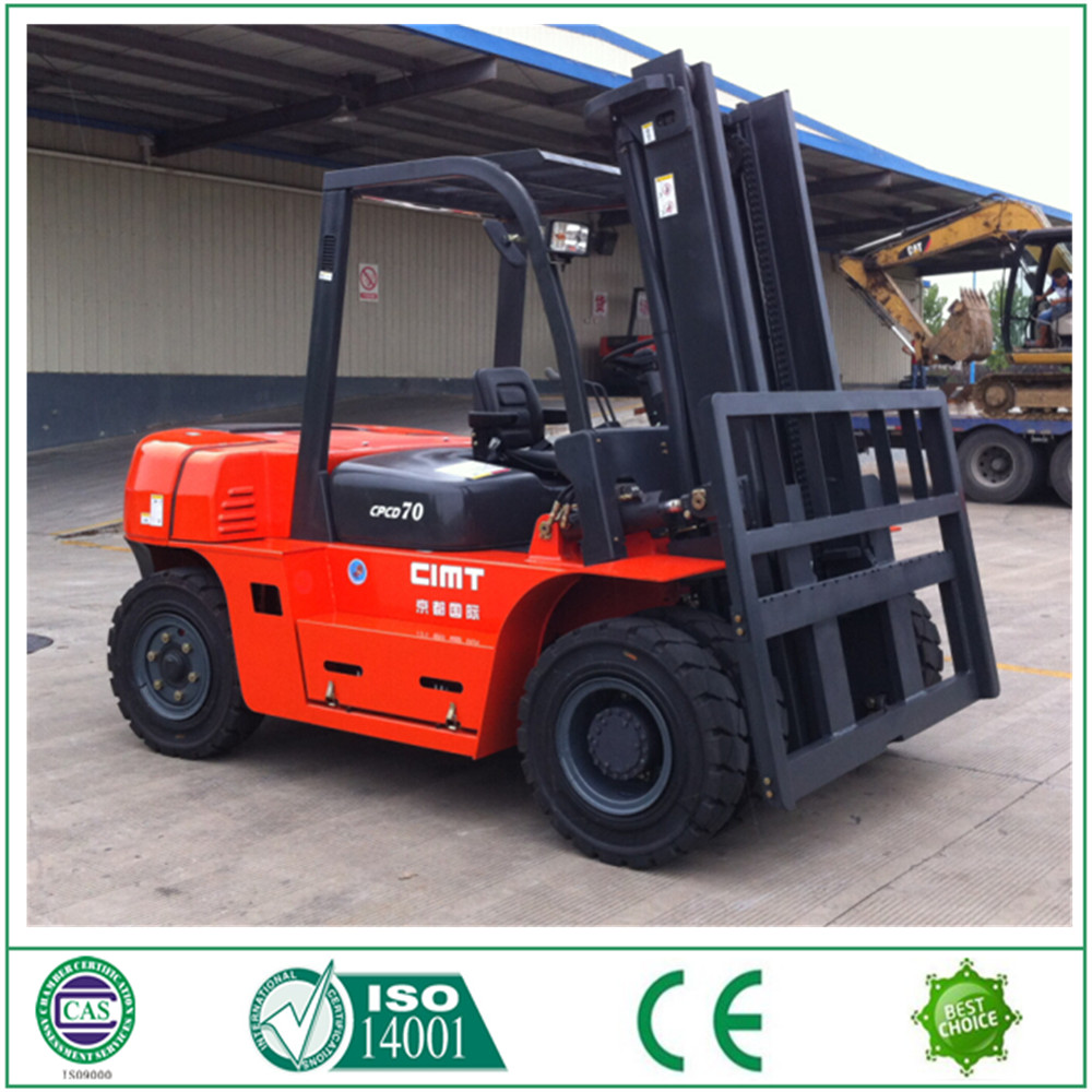 China exporter 7 ton diesel forklift / forklift truck / CPCD70 forklift with diesel driven with high quality China supplier
