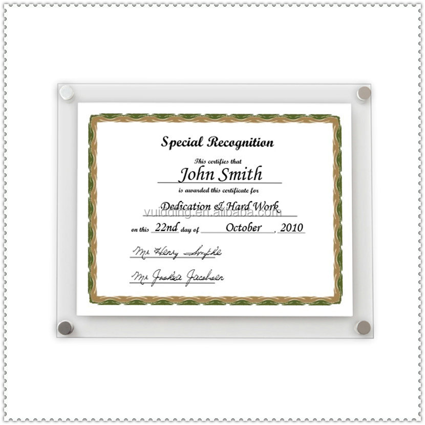 Acrylic Certificate Frame Wholesale, Certificate Frame Suppliers ...