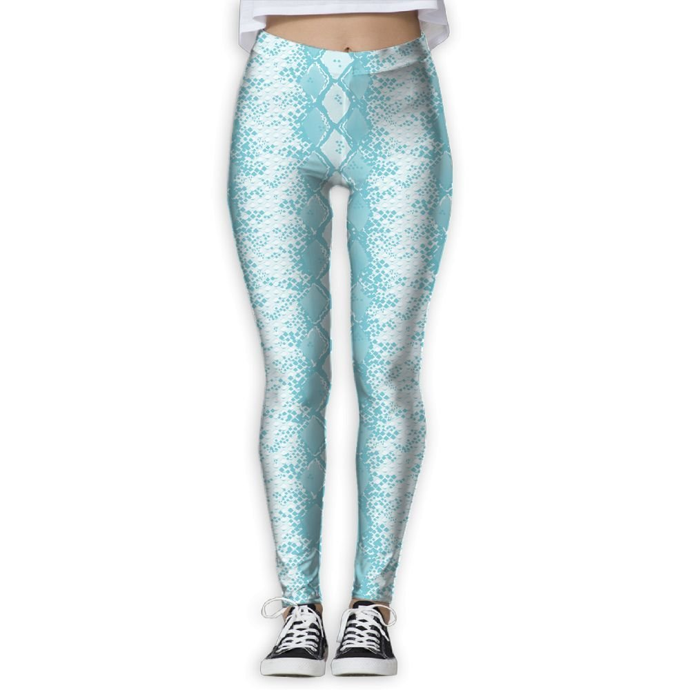a925334cb1253 Get Quotations · LeYue Women's Snake Skin Yoga Pants Performance Activewear Workout  Leggings Sports Pants Size(S-